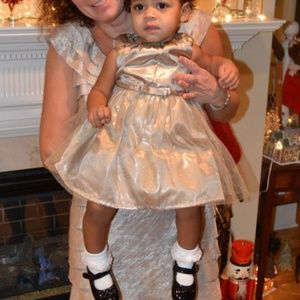 Carter's Gold Sparkle Holiday Party Dress